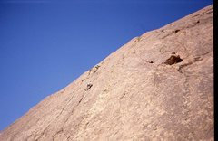 Rock Climbing Photo: P.Ross FA Granite slab .. Just south of town .. Ph...