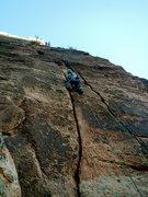 Rock Climbing Photo: Splitter 3rd pitch