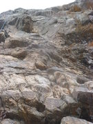 Rock Climbing Photo: The route is right of the rope in the center of th...
