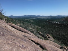 Rock Climbing Photo: Mid way up Elden Slab Route, looking east
