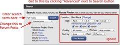 Rock Climbing Photo: MP Advanced Search Dialog