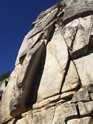 Rock Climbing Photo: Photo of the line.  The corner to the right is unc...