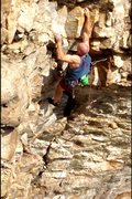 Rock Climbing Photo: Past the first crux.