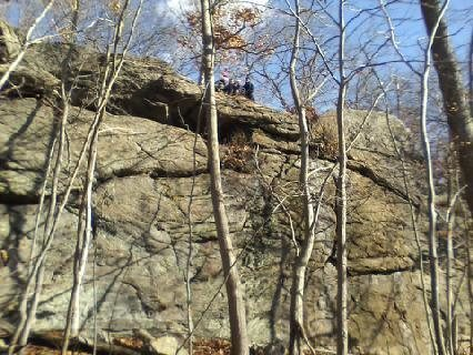 Rock Climbing Photo: Closer view with people on top for scale.