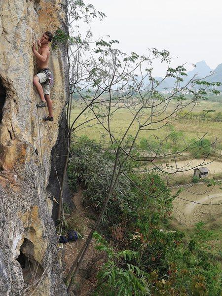 Rock Climbing Photo: Rome climbing at the Egg.