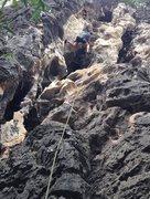 Rock Climbing Photo: Fun warm up at Swiss Cheese wall.