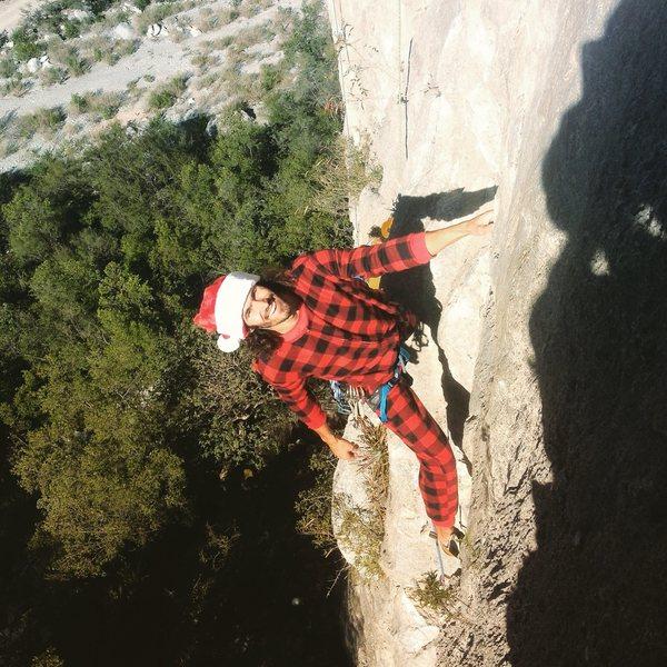 Rock Climbing Photo: Christmas crushin!  Photo by Jonatan Veilleux