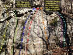 Rock Climbing Photo: Mt Yonah - White Wall - Far Away Topo