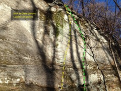 Rock Climbing Photo: Mt Yonah - White Wall - Slick as Glass and Lizards...