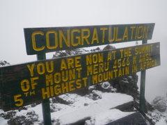 Rock Climbing Photo: Meru summit in the snow.