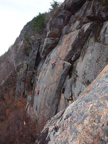 Rock Climbing Photo: Delicate moves along the entire length.