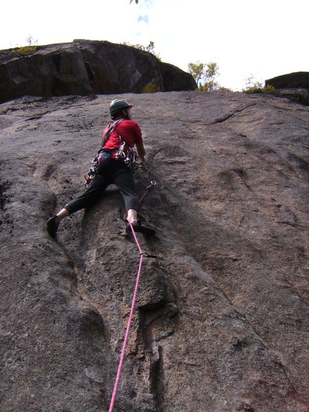 Rock Climbing Photo: Tom Lane bustin' into the FA.