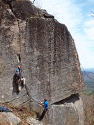 Rock Climbing Photo: Working on this short, pumpy route.