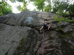 Rock Climbing Photo: Tom Lane on the FA.