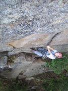 Rock Climbing Photo: Michael Gray tackling the pumpy start to the crux.