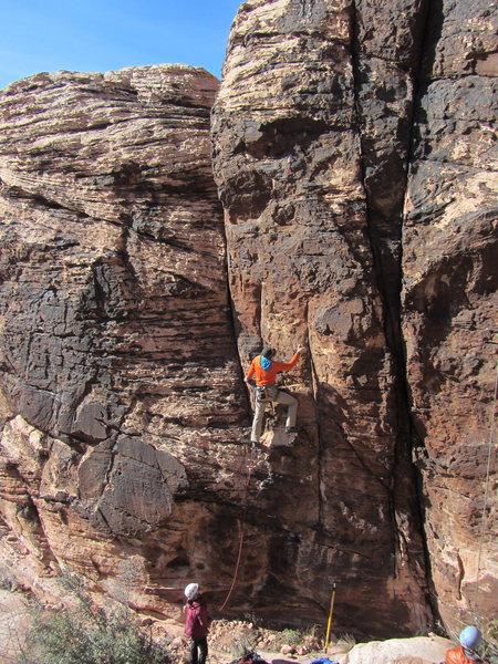 Rock Climbing Photo: John on Here Comes the Sun.