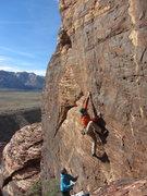 Rock Climbing Photo: John working out Inferno.