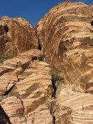 Rock Climbing Photo: Eriko ending the day on Divine Comedy.