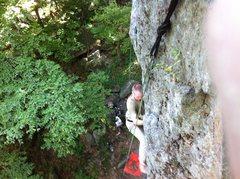 Rock Climbing Photo: Me on Withywindle wall.