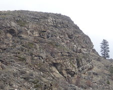 Rock Climbing Photo: Upper South face from the west.