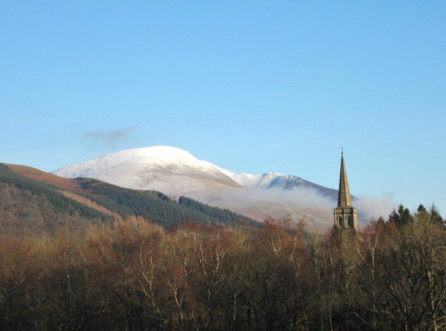 Blencathra Mt above the town of Keswick .. 28th Dec 2014