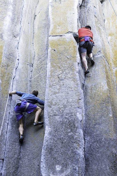 Rock Climbing Photo: Phil's first