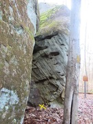 "Rock Climbing Photo: shot of the inside wall of ""Scratching Post&q..."