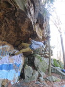 Rock Climbing Photo: Zach showing me how to stick one of the key moves ...