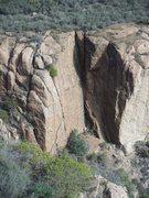 Rock Climbing Photo: The Left Flank & Java Wall.
