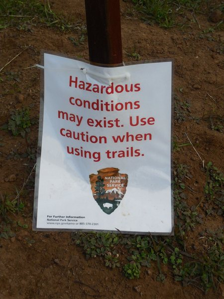 New signage at the Mishe Mokwa Trailhead.