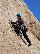 "Rock Climbing Photo: Moving up the slab on ""Aenea."""
