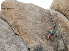 Top roping History, 5.11a, at Joshua Tree