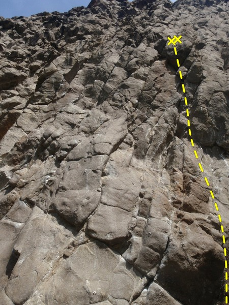 Climb the left side of the pic to a hanging belay