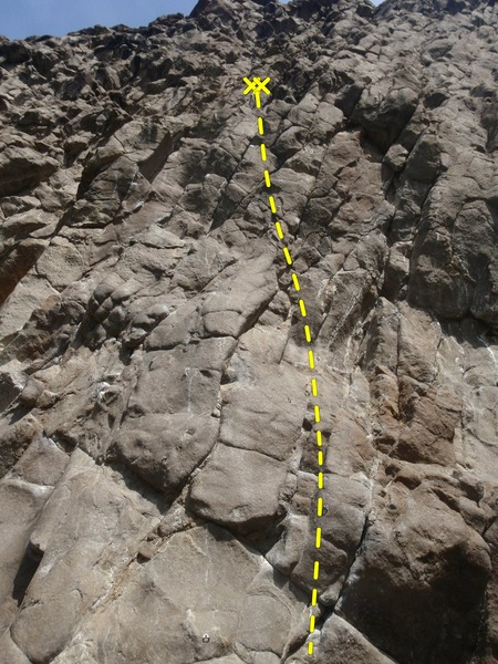 Rock Climbing Photo: Climb up the center of the pic.