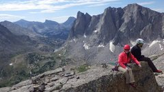 Rock Climbing Photo: On the summit of Pingora - Cirque of the Towers - ...