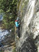 Rock Climbing Photo: A climber on Tricky Start.