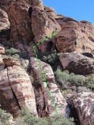Rock Climbing Photo: From the top of the slot at Civ, this is what you'...