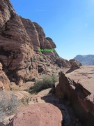 Rock Climbing Photo: From the top of the break, it's a straight shot to...