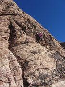 Rock Climbing Photo: Unknown climber on The Three Kingdoms.