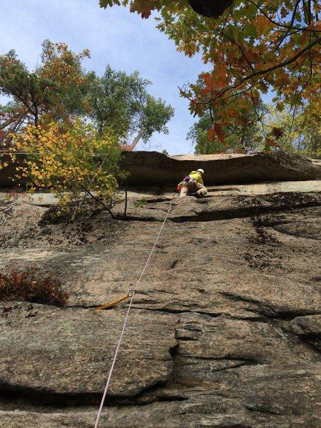 Rock Climbing Photo: First trad lead - Coyote Rain.
