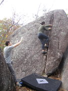 Rock Climbing Photo: unknown problem at Elephant Rocks, MO