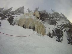 Rock Climbing Photo: RMNP, Loch Vale, Crystal Meth conditions, 12/27/20...