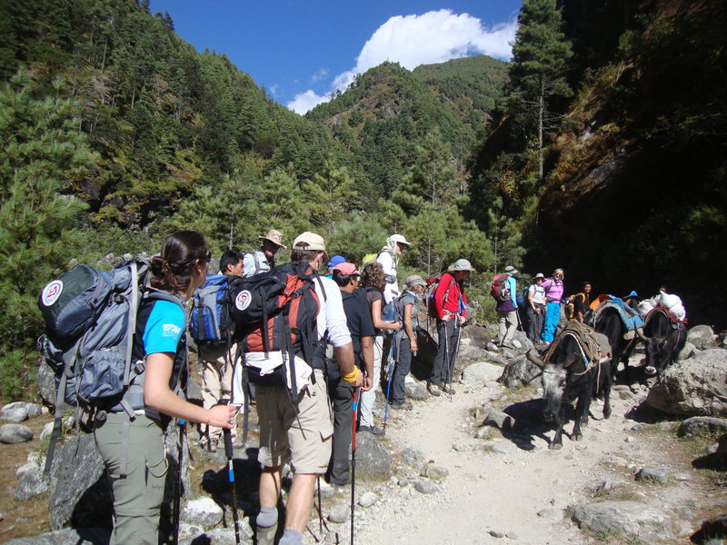 Rock Climbing Photo: trekking to Everest base camp