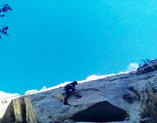 Rock Climbing Photo: Jordan Otto passing the ceiling on Gridlock 5.10a ...