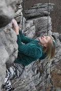 Rock Climbing Photo: Nadia Pinna casually strolling up Black crack