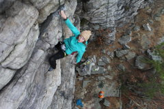 Rock Climbing Photo: Elizabeth Gough showing that crack whose wack!!