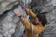 Rock Climbing Photo: David Morris on Black crack