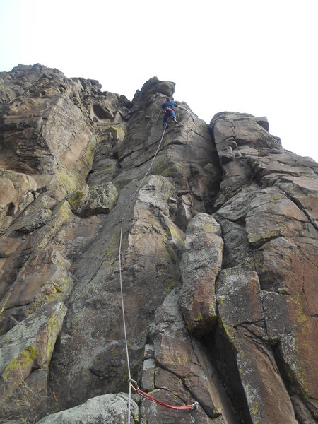"Rock Climbing Photo: Nearing the top out on ""Five to One"". Fu..."