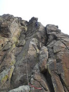 """Rock Climbing Photo: Nearing the top out on """"Five to One"""". Fu..."""