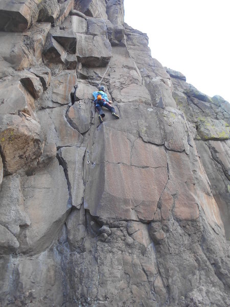 "Rock Climbing Photo: Garrett sending ""Silver Bullet"" at NTM a..."